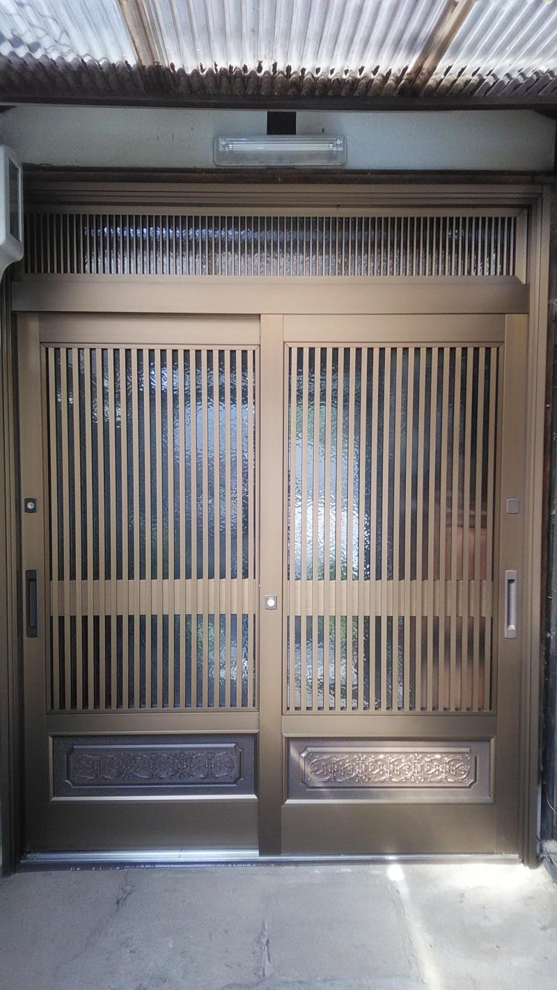 施工例♪玄関引戸