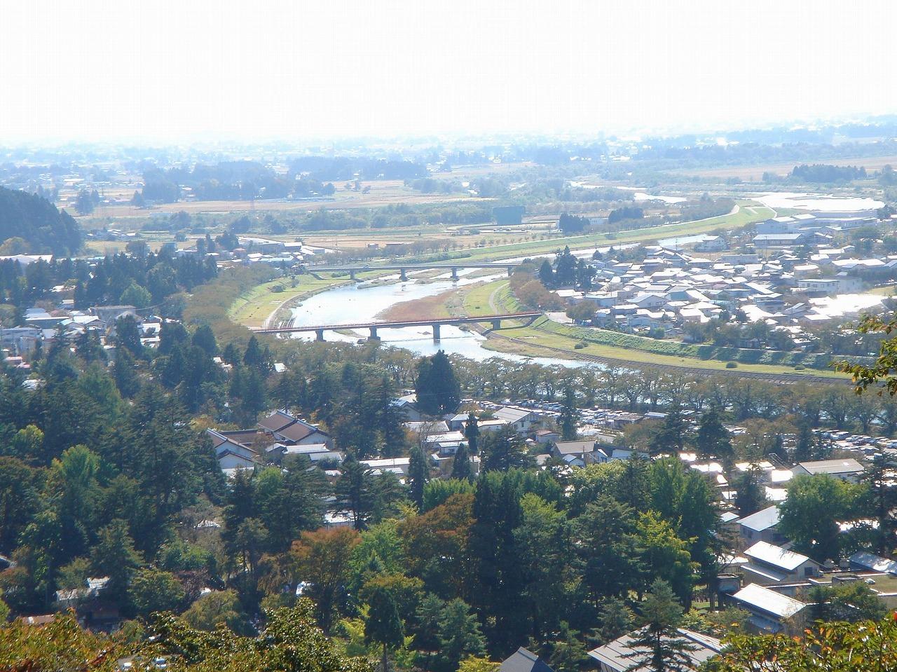 2008年10月13日古城山のてっぺんから眺めました